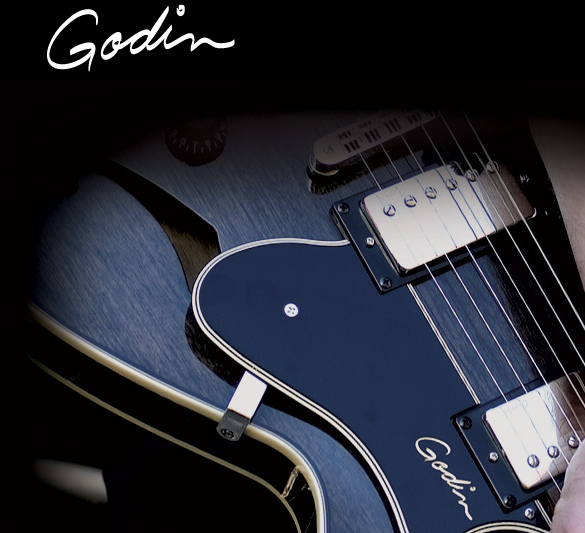 Picture: Godin Guitar Logo and guitar